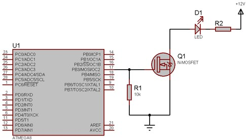 Схема подключения транзистора